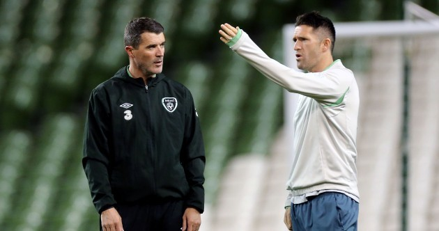 Caption time: What are Roy and Robbie saying at Lansdowne Road this evening?