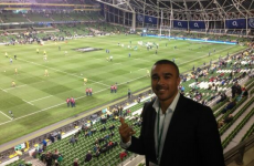 Simon Zebo is in the house for Ireland v Australia