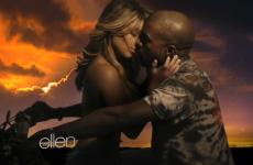 Kanye's strange new video features a topless Kim Kardashian (NSFW)