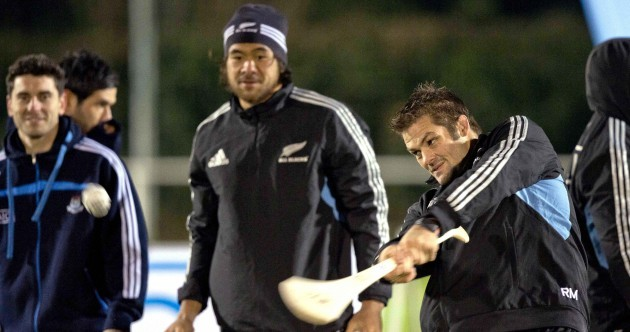 Snapshot: Richie McCaw goes hurling with Bernard Brogan