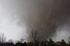 Man films terrifying video of tornado devastating his house and neighbourhood
