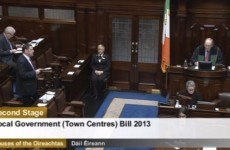 Dáil debates bill to deal with 'crisis in Irish towns'