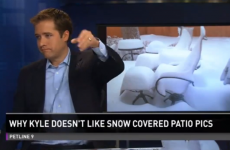 """It's time we had a talk…"": Colorado news anchor is sick of viewers' patio snow photos"