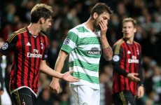 Celtic crash out of Europe following error-ridden Milan loss