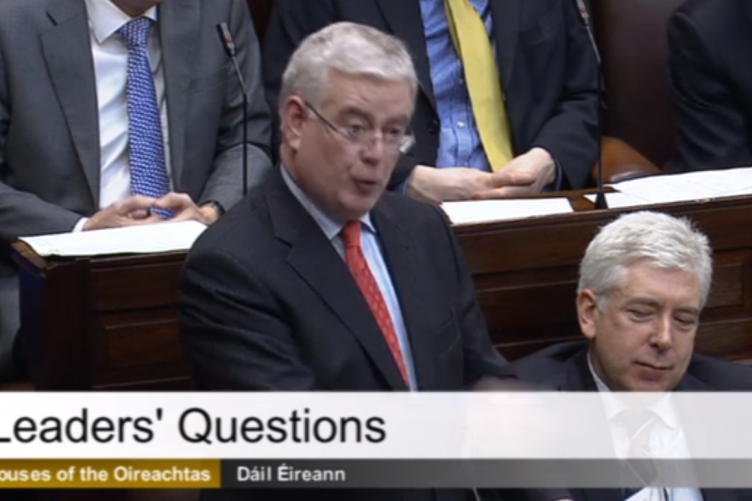 Tánaiste Eamon Gilmore in the Dáil this morning