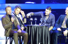 Boyzone's emotional tribute to Stephen Gately... by drinking wine at Dublin gig