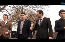 DCU and Trinity face off in a reenactment of Anchorman's fight scene