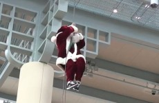 These Santas are really not having a good time of it