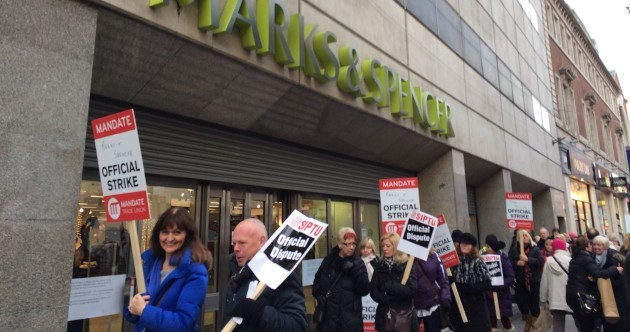 More than 2,000 Marks & Spencer workers on strike today over pensions