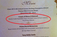 Shane O'Donnell is steering clear of this starter at Clare's champions dinner
