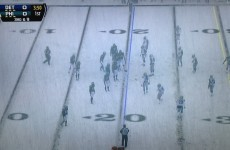 Detroit and Philadelphia are playing in a biblical snowstorm