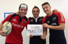 SNAPSHOT: Özil, Podolski and Cazorla show their support for Munster