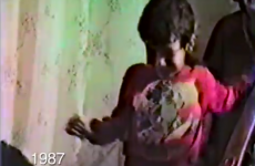 Dad films his kids coming downstairs every Christmas for 25 years