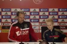 VIDEO: Ajax 'sign' terminally-ill 8-year-old boy