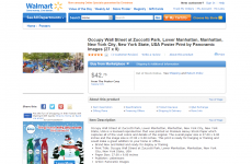 Wal-Mart is selling an Occupy Wall Street poster