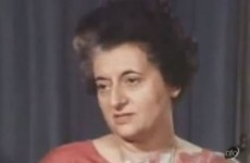 Indira Gandhi sent greetings from the sky to 'friendly people' of Ireland