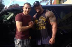 Snapshots: The Rock (retired wrestler, not hurler) meets Cork GAA players