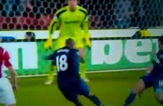 Ashley Young scores an absolute screamer to put Man Utd a goal up at Stoke