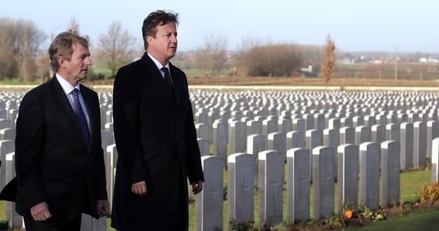 Pics: Enda Kenny and David Cameron honour war dead in Belgium