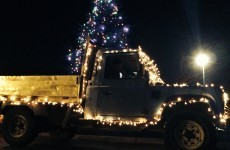 Dublin driver wins Christmas with fully-decorated tree... on his truck