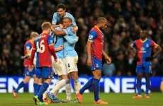 19 shots off target but Dzeko makes one count as City pip Palace