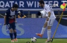 VIDEO: Real Madrid's Dani Carvajal is tackled by a corner flag