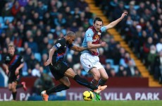 Aston Villa striker out for the season after leg break