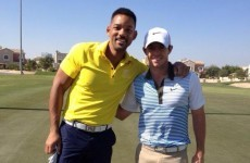Will Smith drops in on Rory McIlroy's pre-season training in Dubai