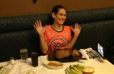 This tiny woman broke the world steak eating record in less than 3 minutes