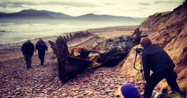 Moves to protect 111-year-old shipwreck washed up by storm on Kerry beach