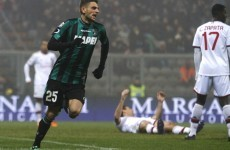 VIDEO: A 19 year-old on loan from Juventus hit four goals against AC Milan last night