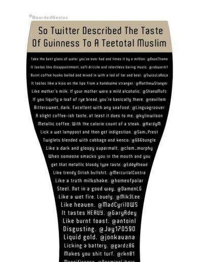 Non-drinking Muslim asks Twitter to describe what Guinness tastes like