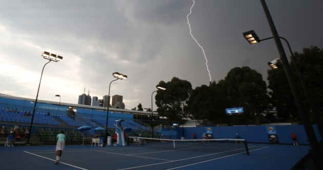 Australian Open weather: good for photography, not great for tennis