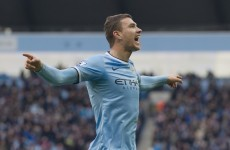 Dzeko scores Man City's 100th goal of the season