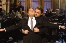 Jonah Hill and Leonardo DiCaprio beautifully recreated a Titanic moment last night