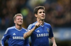 VIDEO: Chelsea's Oscar hits an unstoppable curling free-kick