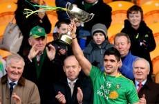 Snapshot - Leitrim and Kildare footballers celebrate winning early season GAA silverware
