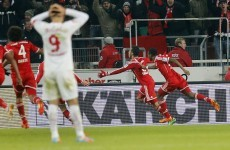 VIDEO: Stunning scissors kick by Alcantara gives Bayern Munich injury-time win