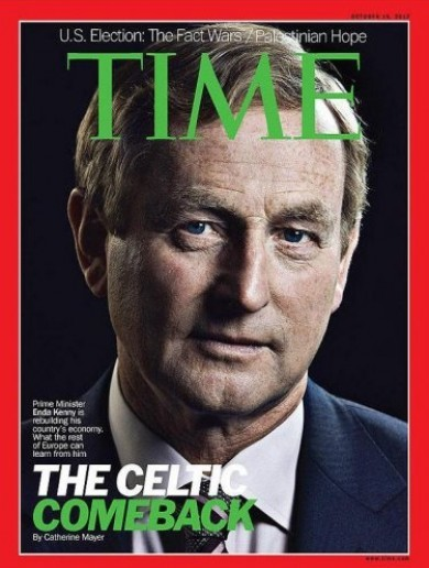 Taoiseach snaps up extra prints of TIME magazine, wouldn't you if you were on the cover?