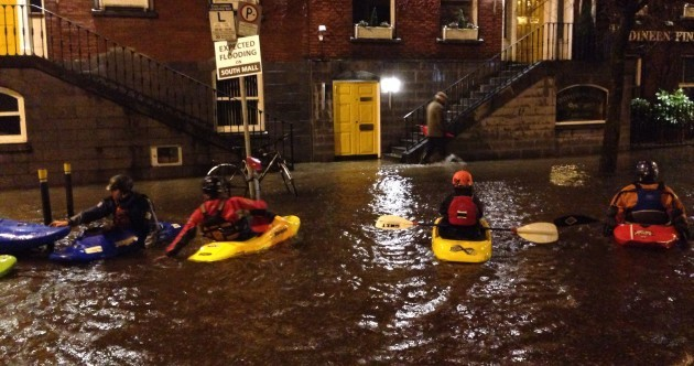 VIDEO: Yes, these people are kayaking down a flooded Cork street