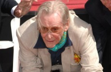 Irish actor Peter O'Toole leaves his mark on Hollywood, literally