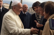 Here's Pope Francis meeting Philomena Lee and Steve Coogan
