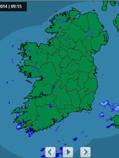 A sight for sore eyes...Ireland is (almost) rain free