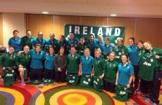 Katie Taylor met the Irish women's rugby team and presented them with their jerseys