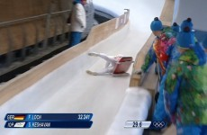 Olympic luger crashes at 55mph, finishes race in an unbelievable recovery