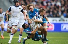 Try-scoring blitz sees France home in ill-tempered affair with Italy