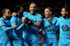 Adebayor double leads Spurs to victory over Magpies