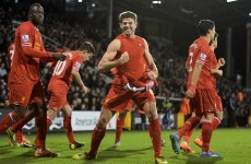 Rodgers hails 'peerless' Gerrard as Liverpool stake title ambitions