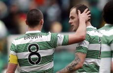 Hat-trick for Anthony Stokes as Celtic equal 43-year clean sheet record