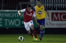 Keith Fahey scored a brilliant free-kick on his Saints return last night